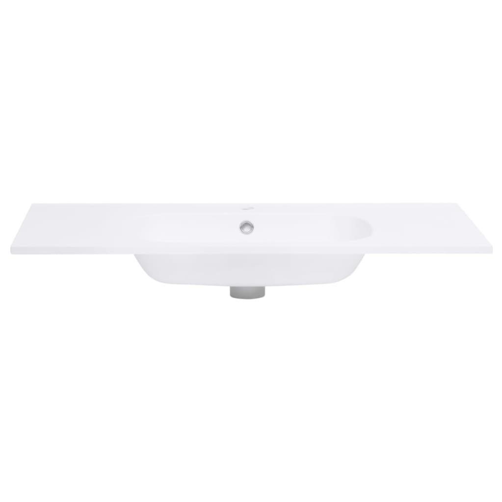 pedkit Lavabo Encastr/é Lavabo Encastrable Salle de Bain 750x460x130 mm SMC Blanc
