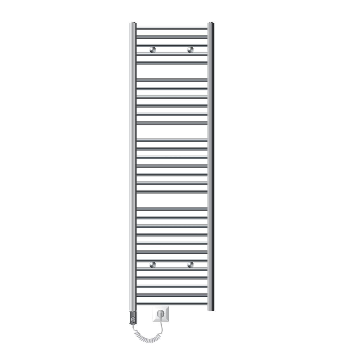 Blanc Radiateur S/èche Serviette Vertical Pour Salle de Bain Design Panneau Plat ECD Germany Stella Design Radiateur S/èche-Serviettes 250 x 1800 mm