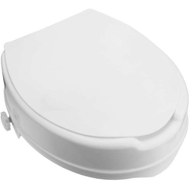 Rehausseur De Toilettes Pour Wc Avec Couvercle Pour Adultes Leroy Merlin