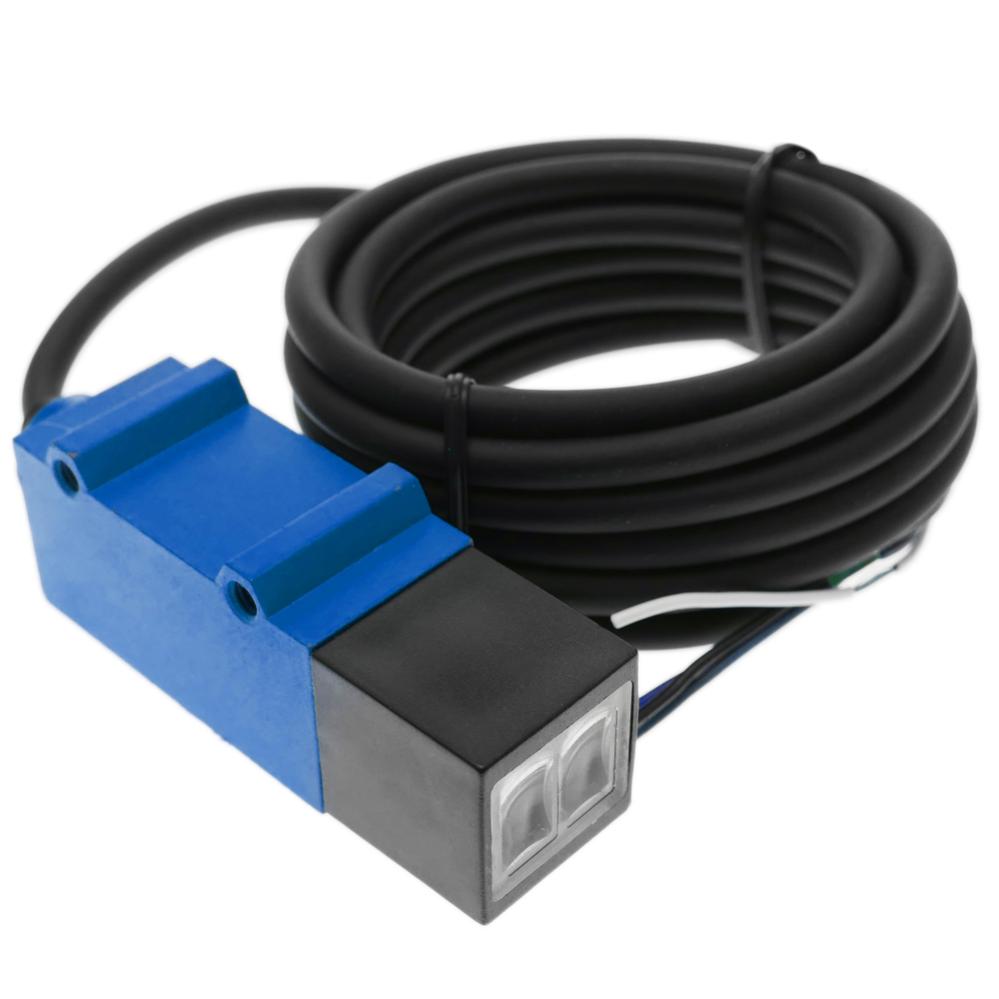 BeMatik Cellule photo/électrique capteur interrupteur commutateur NPN NO+NC 10-30VDC 2m r/étror/éfl/échissant