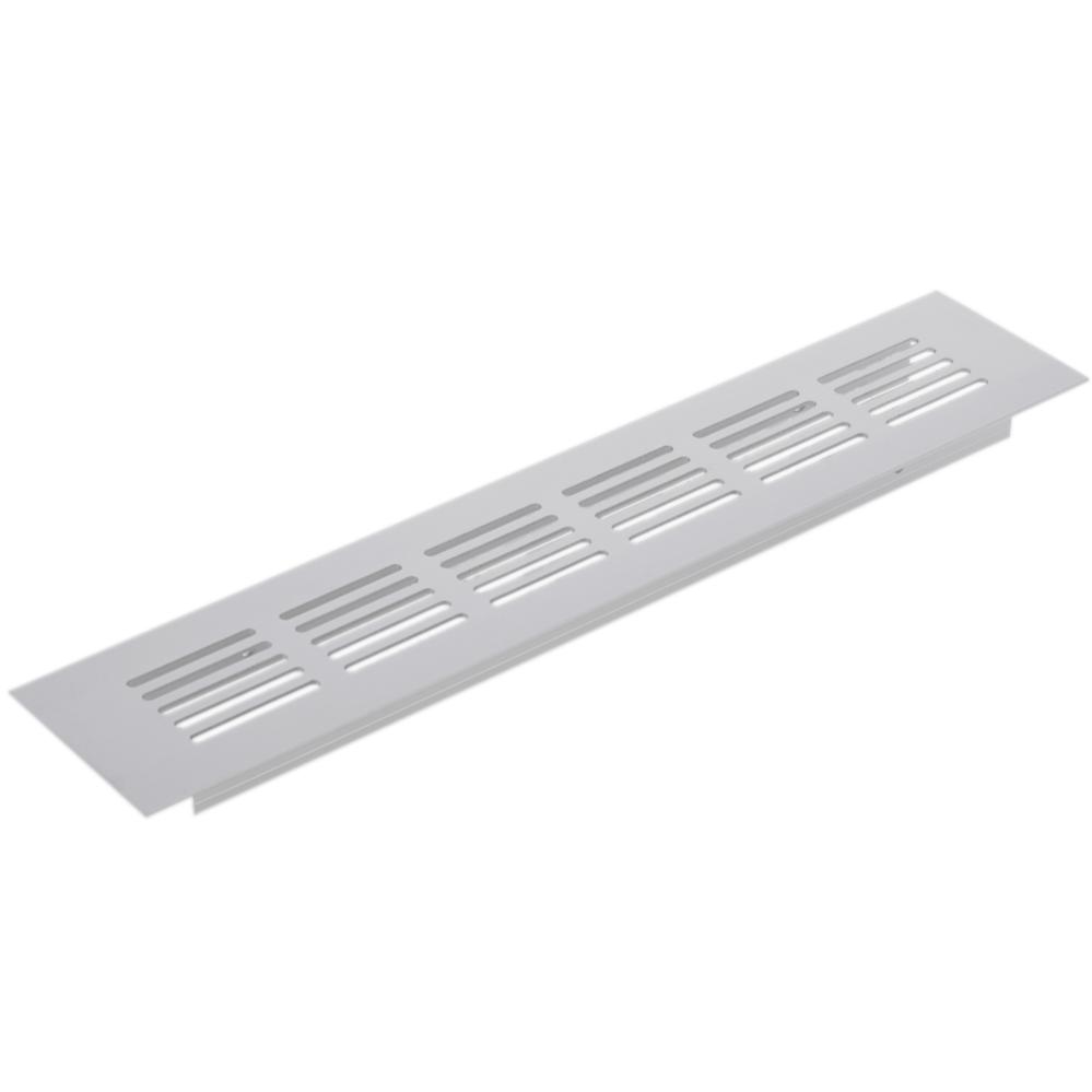 PrimeMatik Grille de Ventilation pour plinthes Base en Aluminium 400x50mm