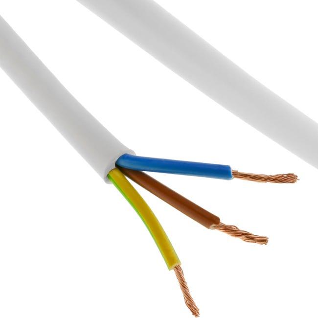 Bobine De Cable Electrique 100 M Blanc 3x1 5 Mm Leroy Merlin