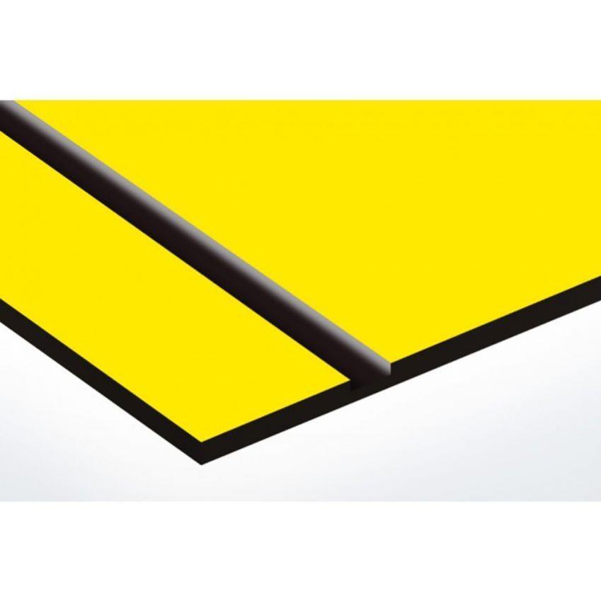 1 ligne 100x25mm beige lettres noires Plaque boite aux lettres format Decayeux COEUR VENDEEN