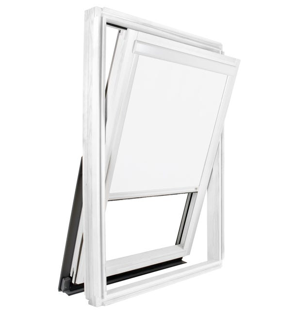 Store Occultant Blanc Compatible Velux S06 4 606 Ossature Blanche Leroy Merlin