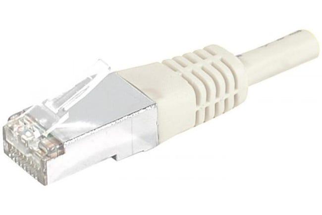 Câble Ethernet Cat 6 30m Sftp Beige Leroy Merlin