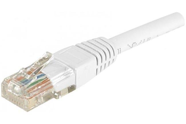 Câble Ethernet Cat 6 1 50m Utp Blanc Leroy Merlin