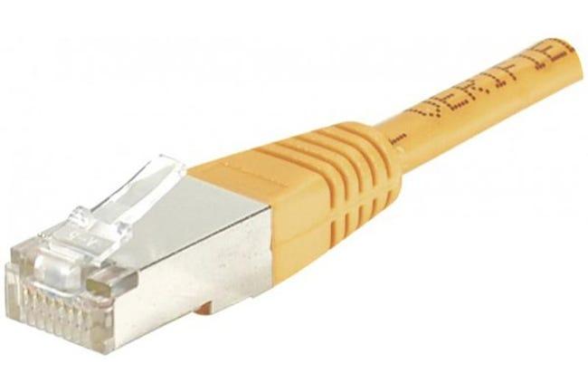 Câble Ethernet Cat 6 30m Ftp Orange Leroy Merlin
