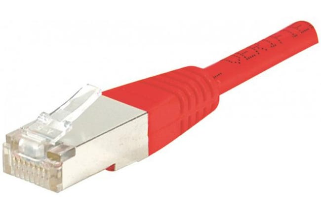 Câble Ethernet Cat 6 30m Ftp Rouge Leroy Merlin