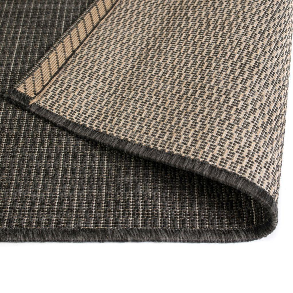 tapis d'extérieurd'intérieur aspect sisal 160x230cm gris