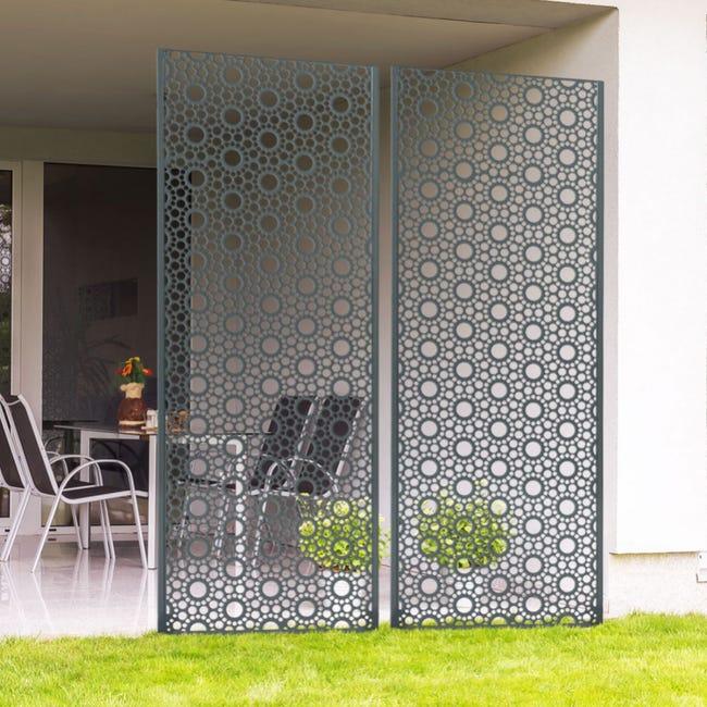 Panneau Decoratif Exterieur Maya Metal Rouille E 10 Mm H 1200 Mm L 600 Mm Leroy Merlin
