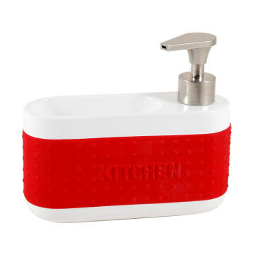 Kitchen soap dispenser ceramic red