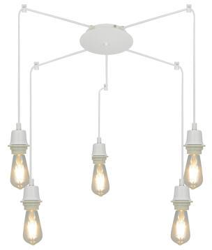 PENDANT LAMP BODY E27 5X60W METAL MATT W