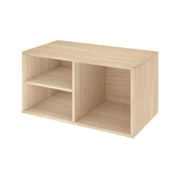 Bathroom cabinet big open SENSEA Easy oak 70x36X38cm