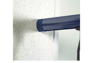 HANDRAIL STARTER WALL ALU DARK GREY 40MM