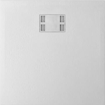 Shower tray square SENSEA Slate white 90X90CM
