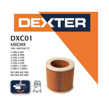 Cartridge filter DEXTER for ash vacuum