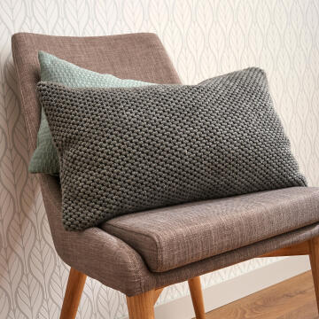 CUSHION 30X50CM LAINE DARK GREY