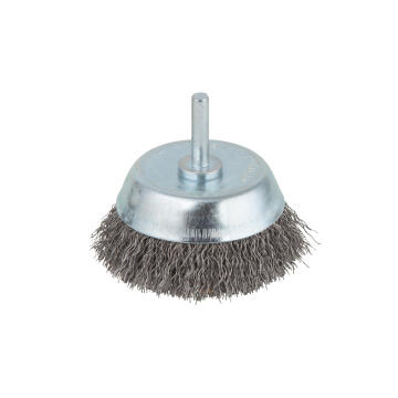 1 WIRE CUP BRUSH, 6 MM SHANK