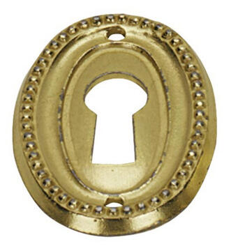 KEY PLATE BRASS-PLATED BURNISHED