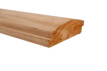 Exterior Cladding Wood Pine Half Log-22x100x3000mm-Plank of 0.3m2