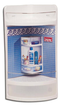 Shower shelves with drawer white