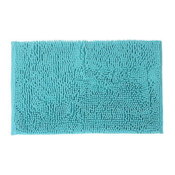 Bath mat woven cotton SENSEA Kate aqua 40X60CM