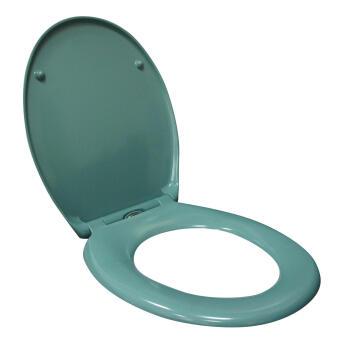 Toilet seat Duroplast with quick release Sensea Easy turqoise