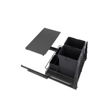 Kitchen sliding wire basket grey 58cm X106cm X76.8cm