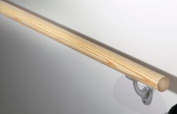 Handrail kit wood solid pine raw 2m