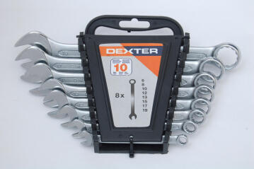 Set of 8 combination spanners DEXTER