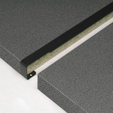 Kitchen worktop aluminium junction straight black 38mm