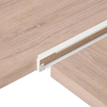 Kitchen worktop aluminium junction angle white 38mm