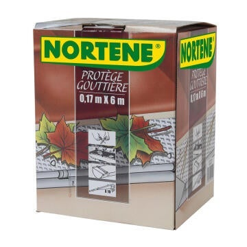 Gutter Screen Nortene 17Cmx6M 15 Clips Plastic