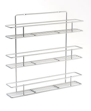 SPICE RACK-WIRE,3 TIER-48X8.5X45HCM GREY