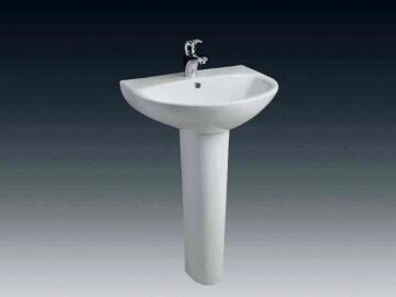 Pedestral Basin Ceramic White 19X17X71CM