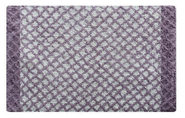 Bath mat woven cotton SENSEA Lucy grey 50X80CM