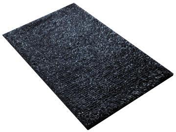 Bath mat cotton SENSEA Jet Set Dark grey 50x80cm
