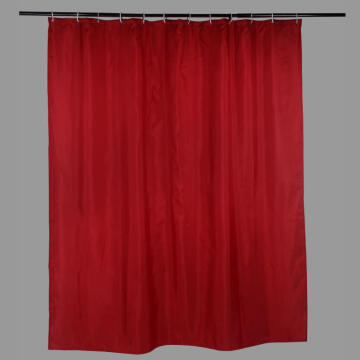 Shower Curtain Polyester SENSEA Happy red 180X200CM