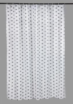 Shower Curtain Polyester SENSEA Atomic grey 180X200CM