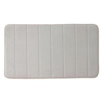 Bath mat memory foam cotton SENSEA Cocoon2 grey
