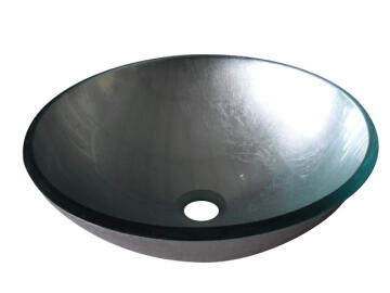 Counter basin round glass SENSEA silver 44X44X19CM
