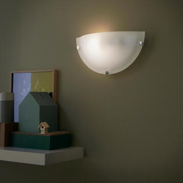 WALL LAMP E27 1X60W IRON ALABASTER GLASS