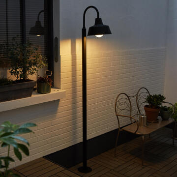 2M POST LAMP,E27 MAX.60W,IP44,METAL.MATT