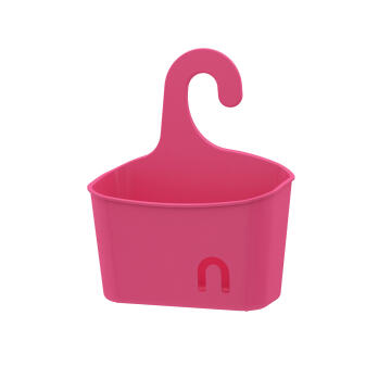 Shower caddie hang small size basket SENSEA easy pink