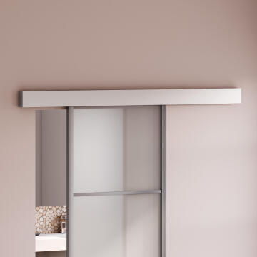 Sliding system aluminium wood door with cover max 40kg 930mm