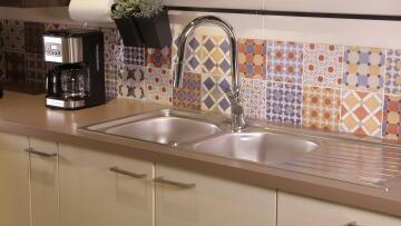 Kitchen tap lever mixer DELINIA Nami chrome
