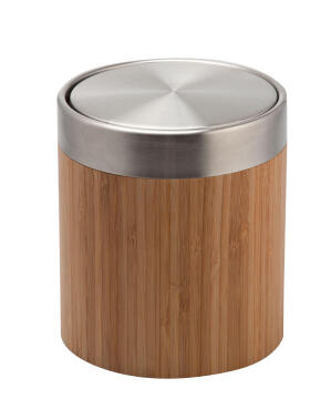 Dustbin bamboo natural 3L