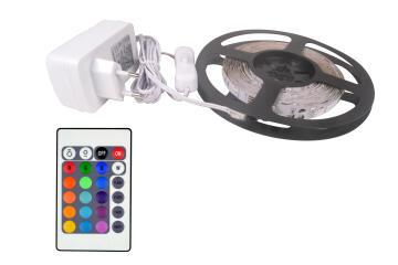 KIT STRIP LED RGB RIBBON 5M + 24W DRIVER