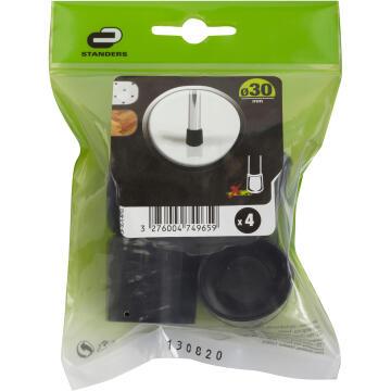 PLASTIC CUP 30MM 4P BLACK