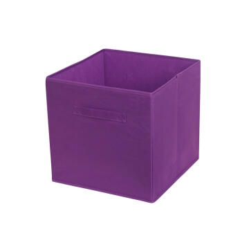 POLYESTER BASKET 31X31X31 PURPLE